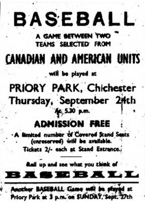 Priory Park Baseball